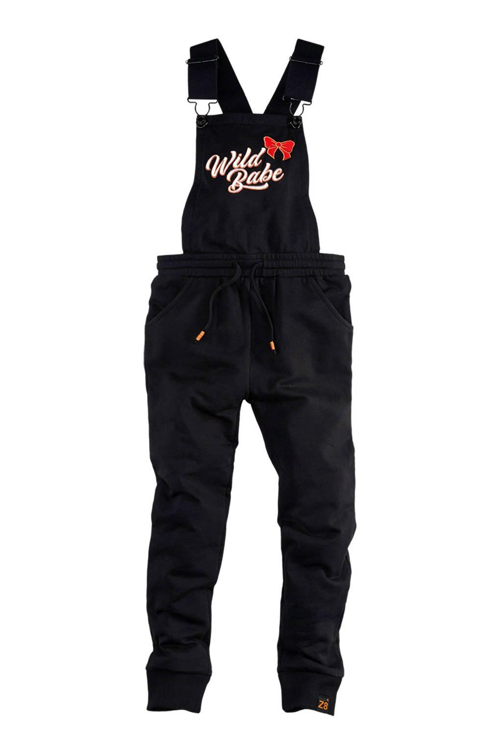 Z8 jumpsuit Kitty met tekst zwart, Zwart