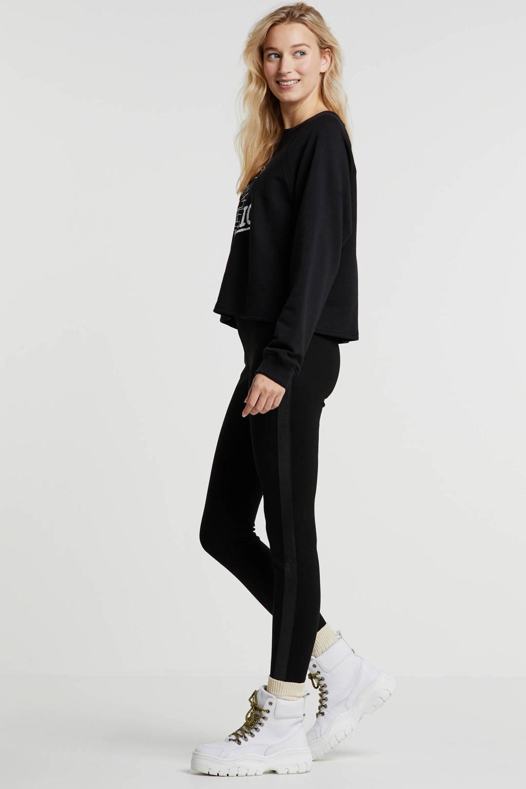 edc Women legging met zijstreep zwart, Zwart