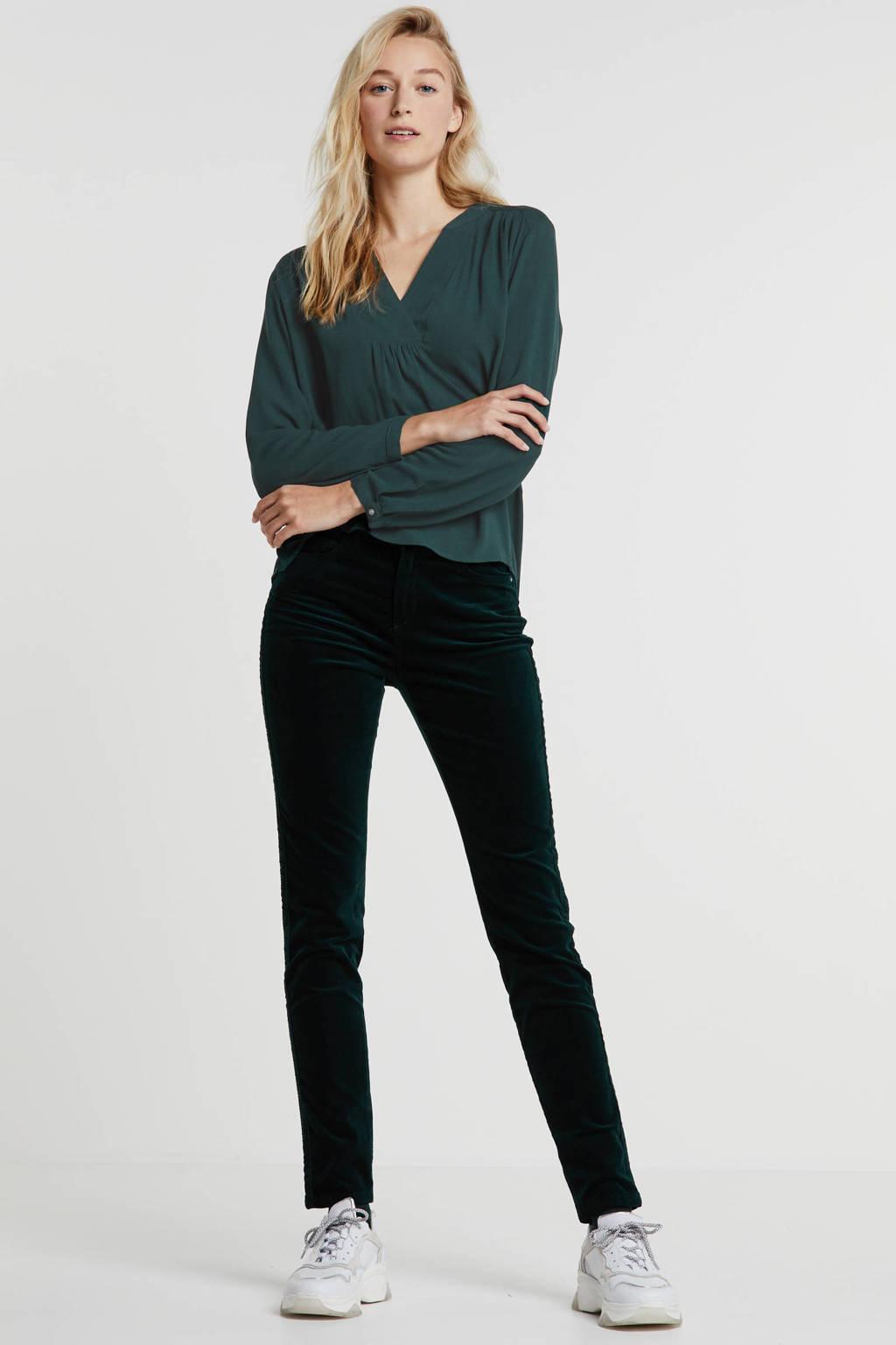 ESPRIT Women Casual corduroy slim fit broek groen, Groen