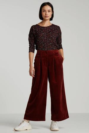 corduroy high waist culotte brique