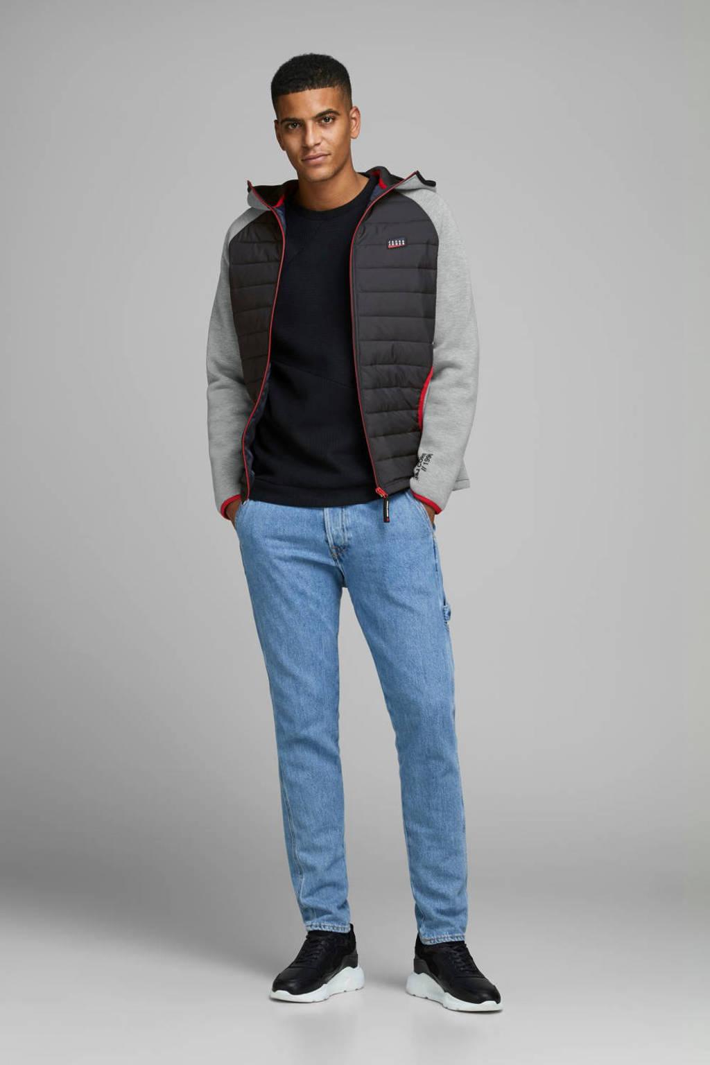 JACK & JONES CORE jack met contrastbies zwart/grijs, Zwart/grijs