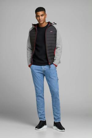 jack met contrastbies zwart/grijs