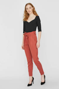 VERO MODA high waist slim fit broek rood, Rood