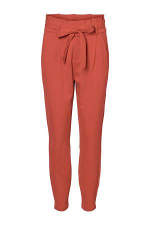 high waist slim fit broek rood