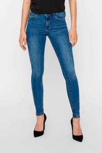 VERO MODA high waist skinny jeans VMTANYA medium blue denim, Blauw
