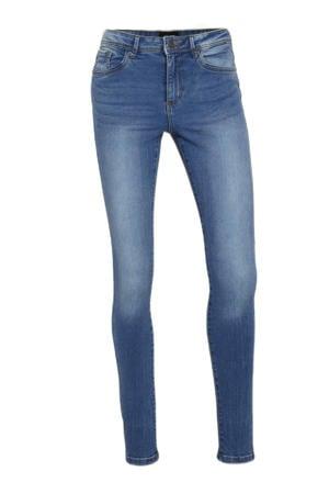 mid waist skinny jeans VMTANYA medium blue denim