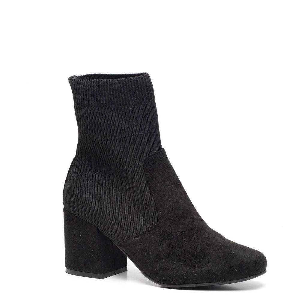 Scapino Blue Box   sock boot - enkellaarzen zwart, Zwart