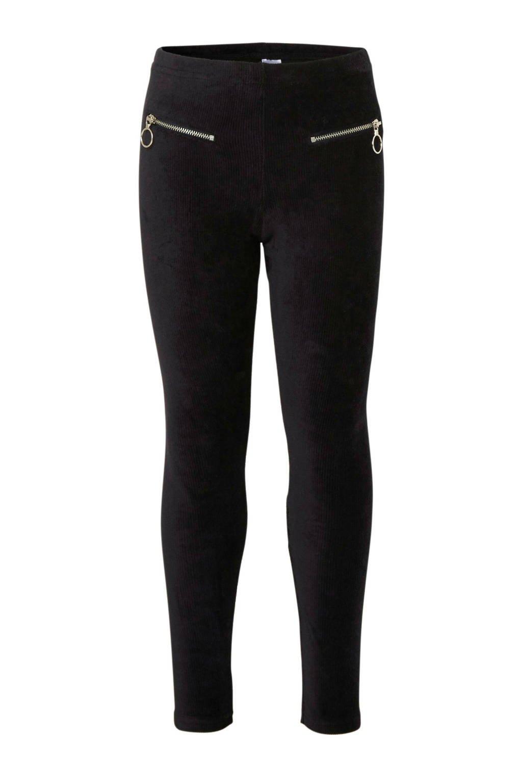 C&A Here & There fluwelen legging zwart, Zwart