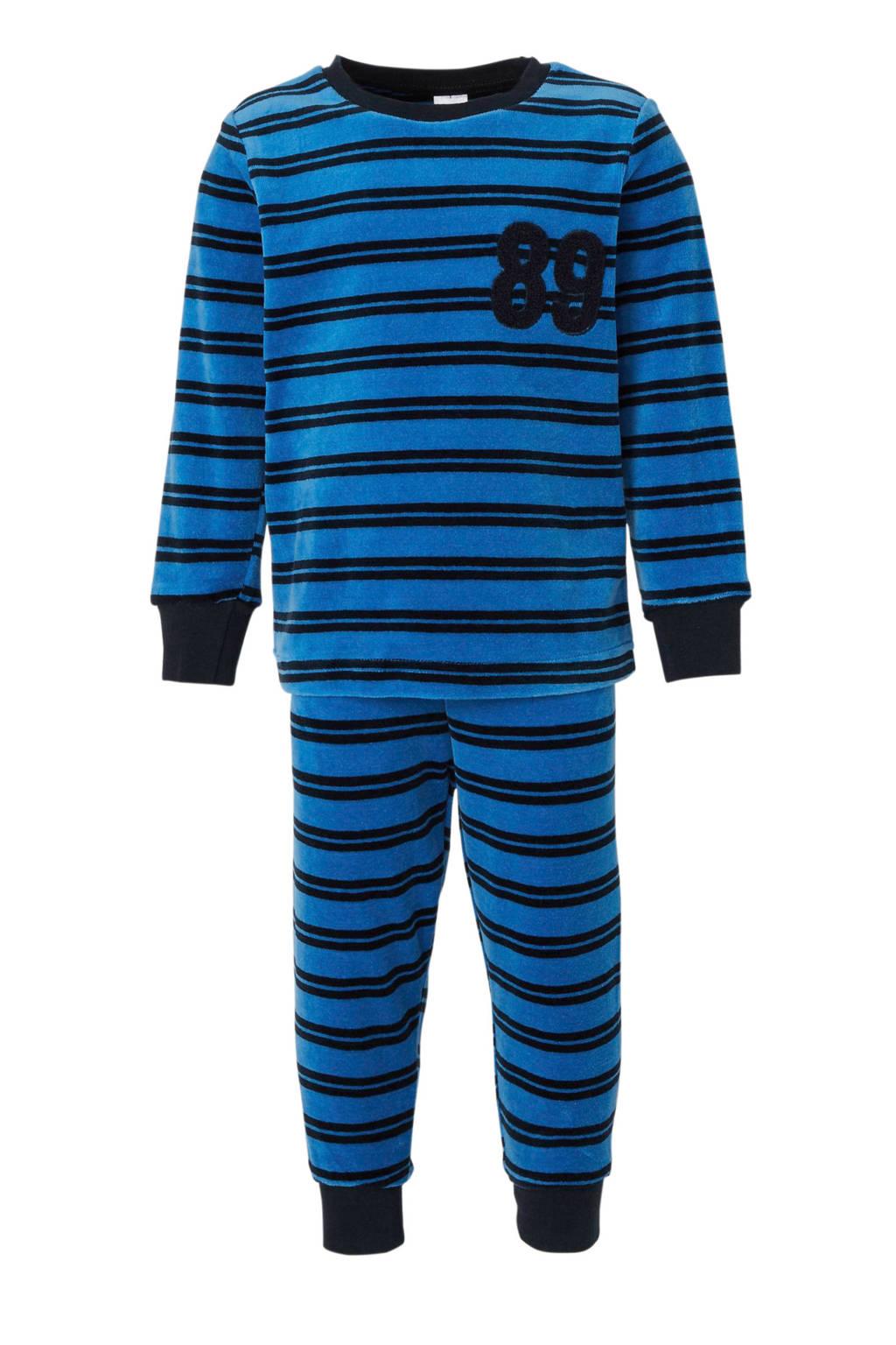 C&A Palomino   pyjama met streep print blauw/zwart, Donkerblauw/zwart