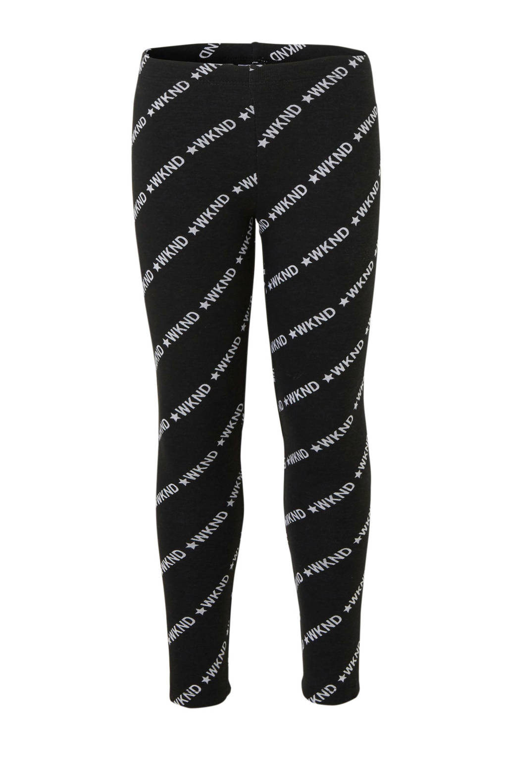 C&A Here & There thermo legging met printopdruk zwart/wit, Zwart/wit
