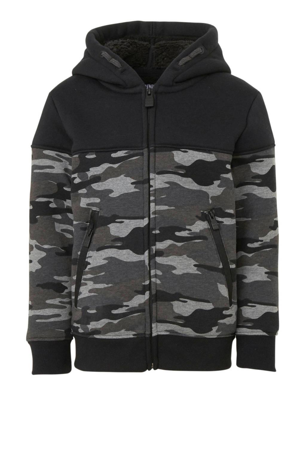 C&A Here & There vest met camouflageprint zwart/grijs, Zwart/grijs