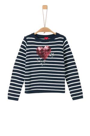gestreepte trui marine/wit/rood