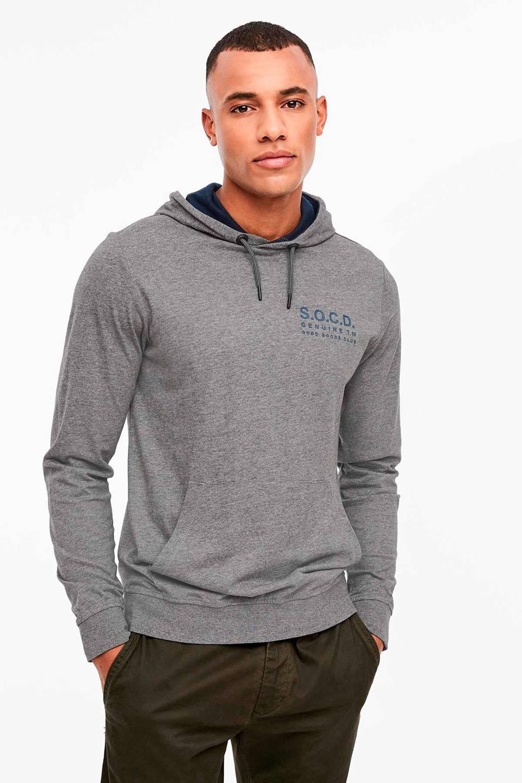 s.Oliver hoodie met logo grijs, Grijs