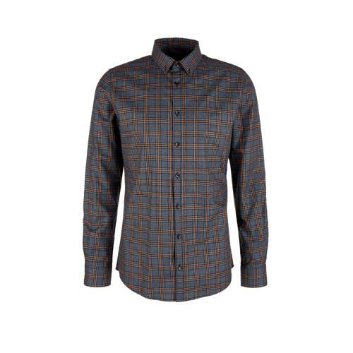s.Oliver BLACK LABEL geruit regular fit overhemd g