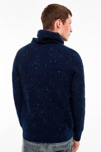 Q/S designed by gemêleerde trui donkerblauw, Donkerblauw