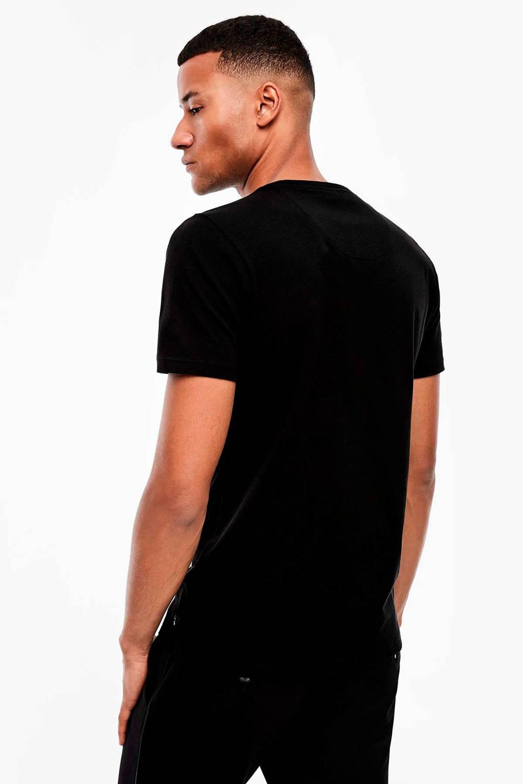 s.Oliver BLACK LABEL T-shirt met printopdruk zwart, Zwart