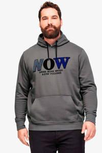s.Oliver Big Size hoodie met printopdruk grijs Big size, Grijs