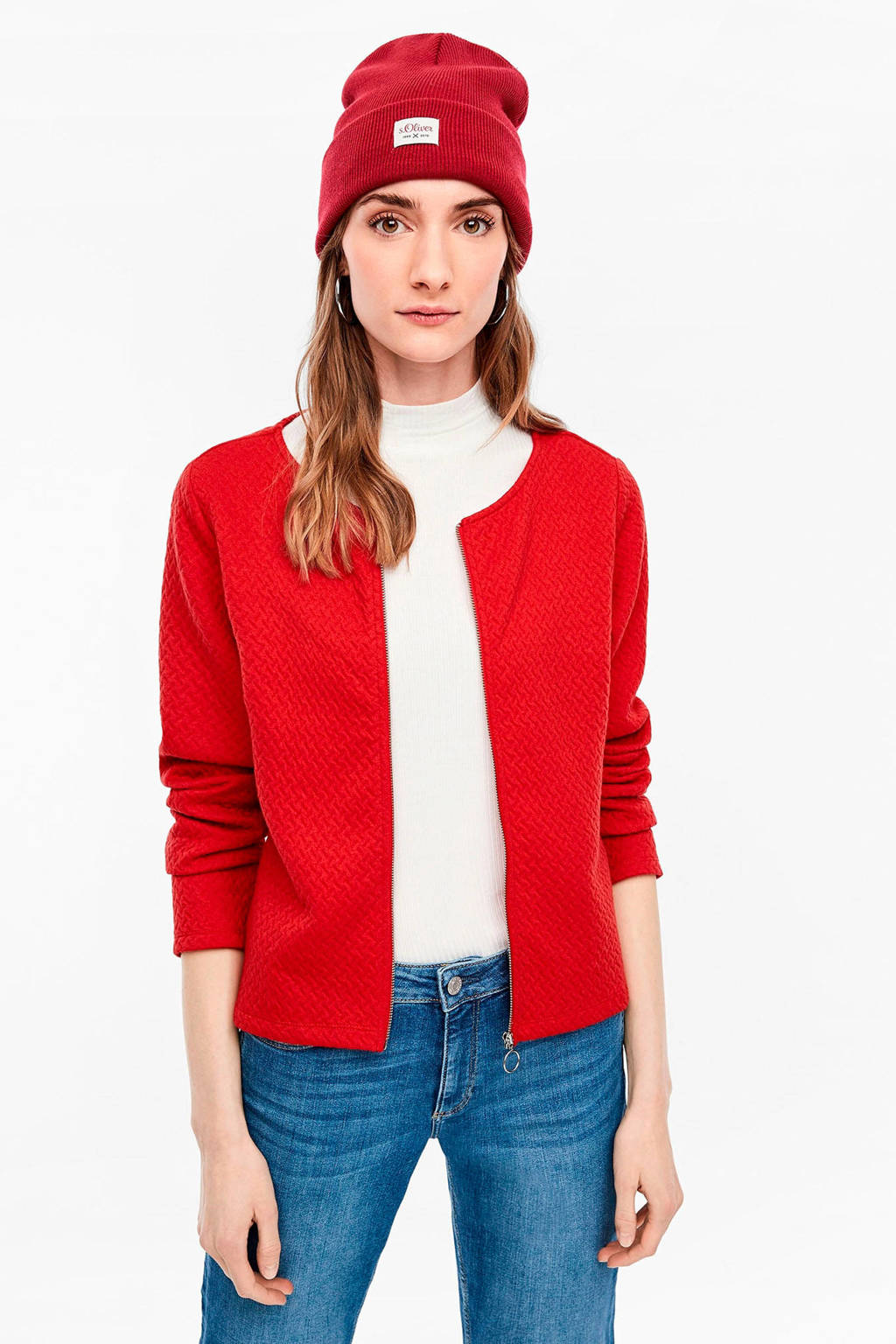 Q/S designed by jasje met textuur rood, Rood