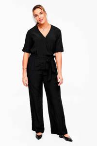 TRIANGLE jumpsuit met stippen zwart, Zwart