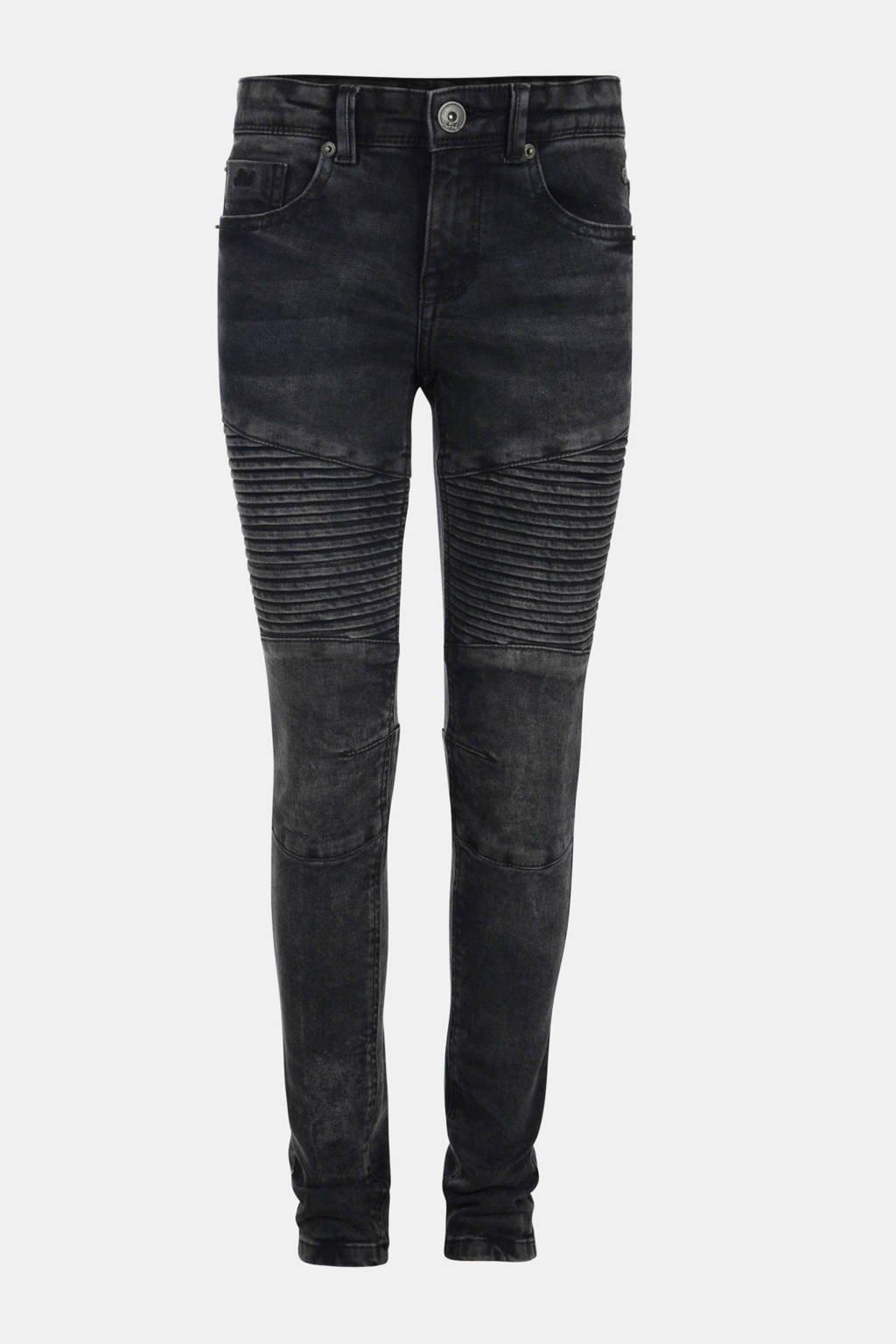 Jill & Mitch by Shoeby skinny jeans Biker Night met textuur zwart, Zwart