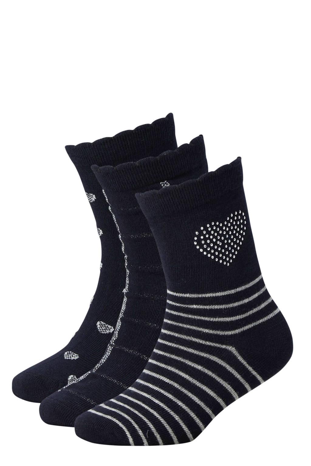 Apollo sokken set van 3 paar marine, Marine