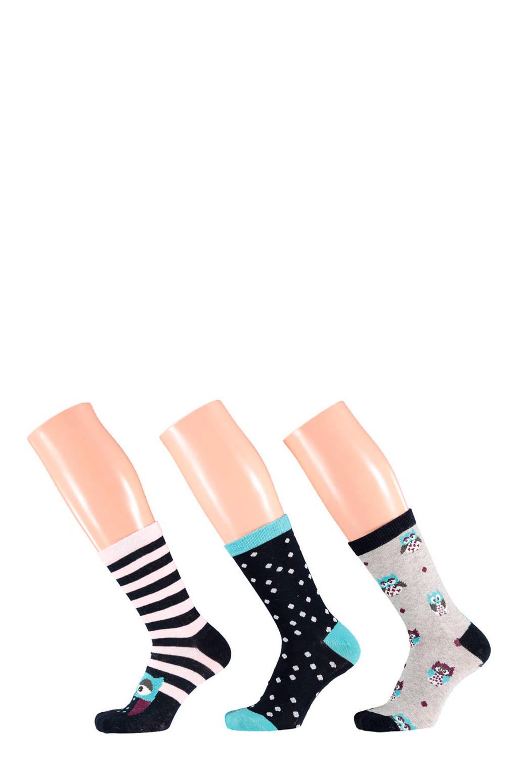 Apollo sokken 3-pak, Multi Blue
