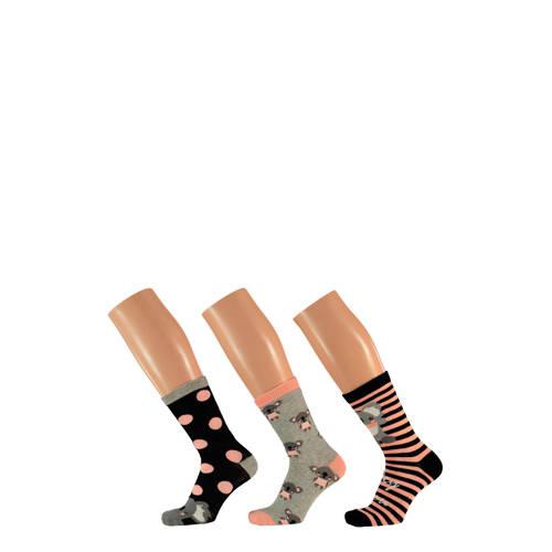 Apollo sokken set van 3 paar roze