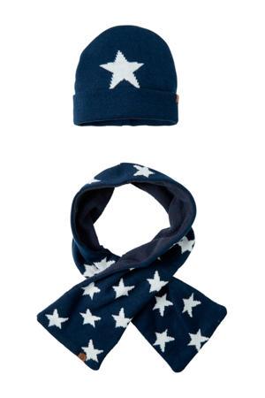 baby muts en sjaal blauw