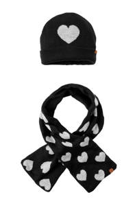 Sarlini muts en sjaal zwart, Zwart