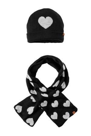 muts en sjaal zwart