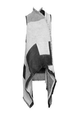 poncho grijs