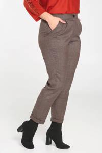 Paprika straight fit pantalon met pied-de-poule bruin, Bruin