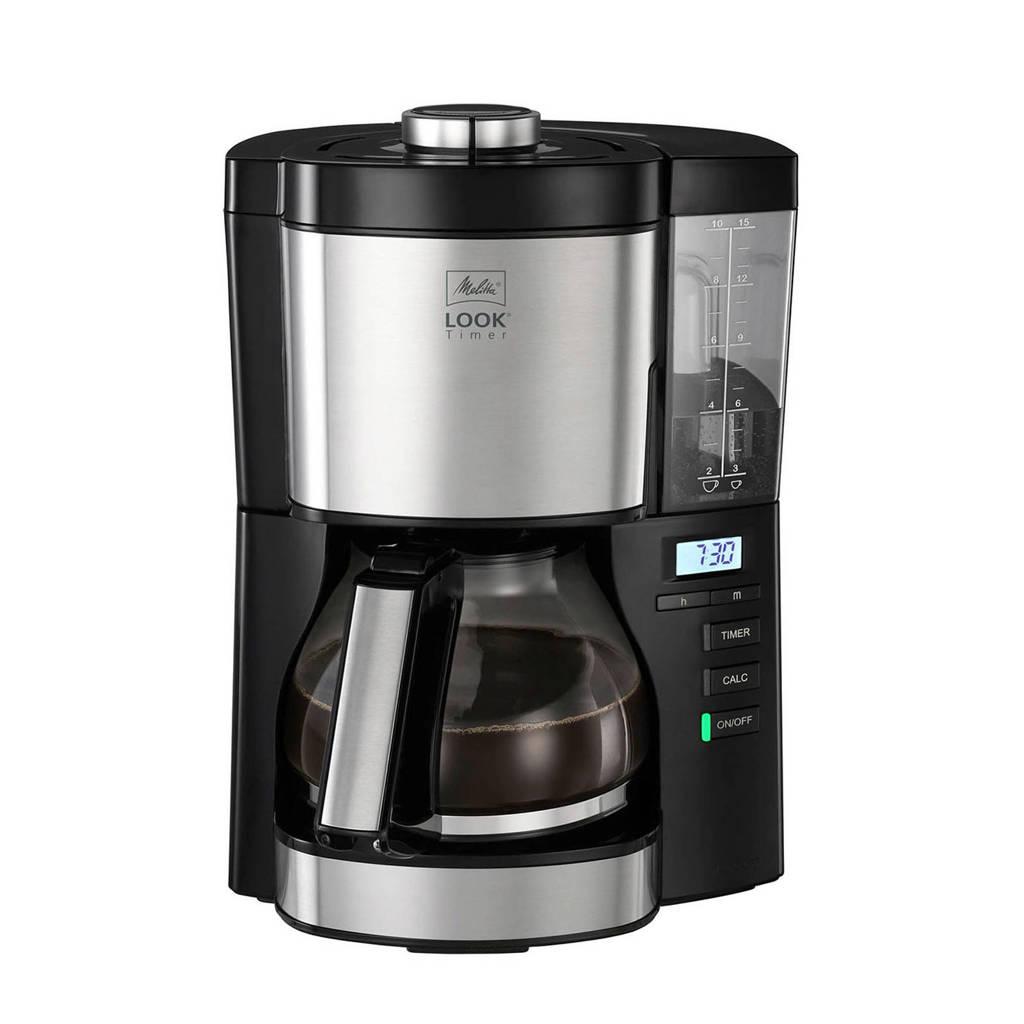 Melitta Look Timer koffiezetapparaat, RVS/zwart