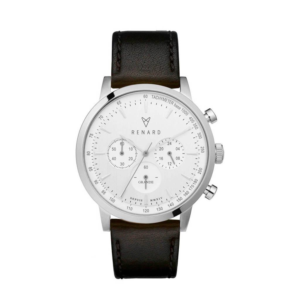 Renard horloge RC402SS10VBK zwart, Zwart