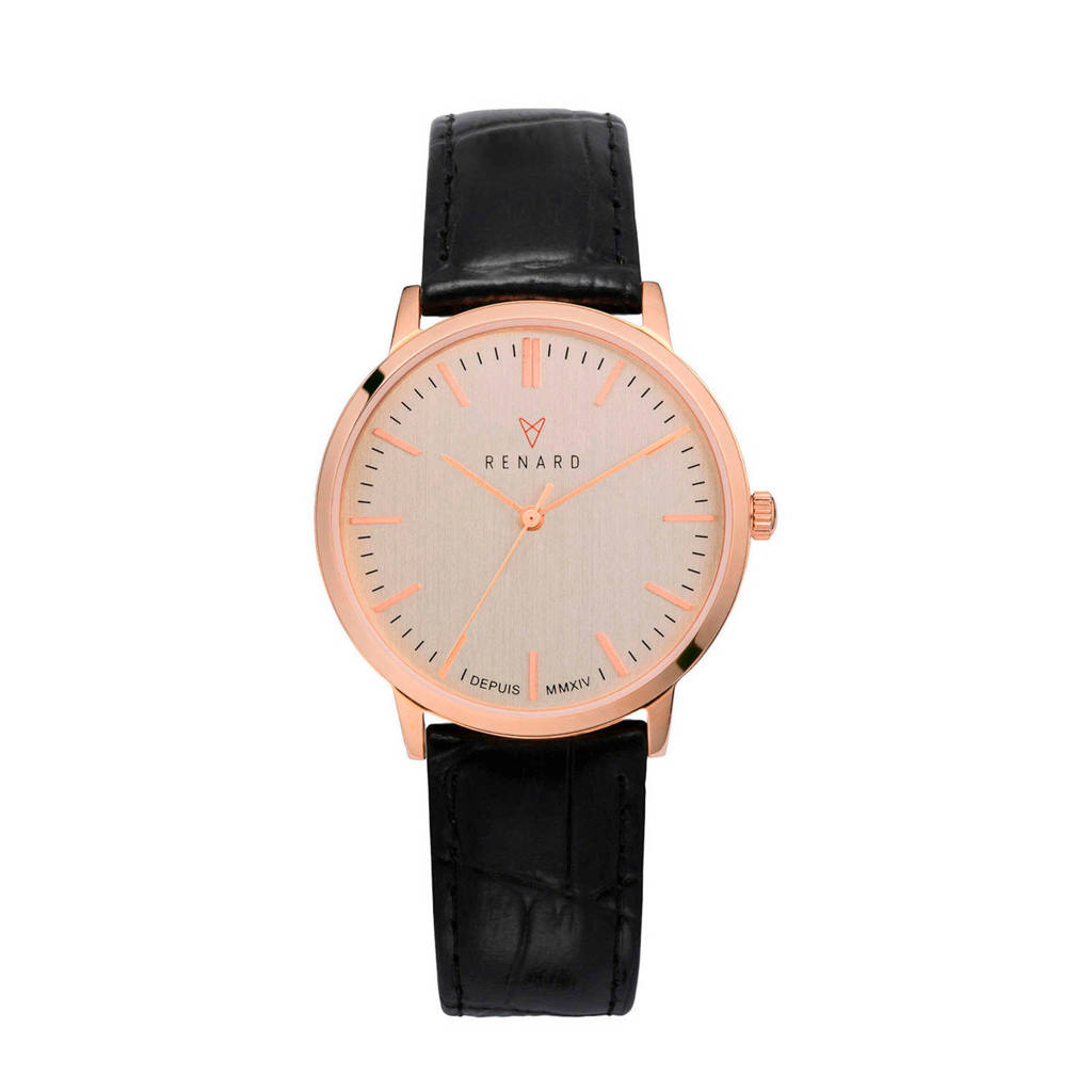 Renard horloge RA361RG31CBK zwart, Zwart