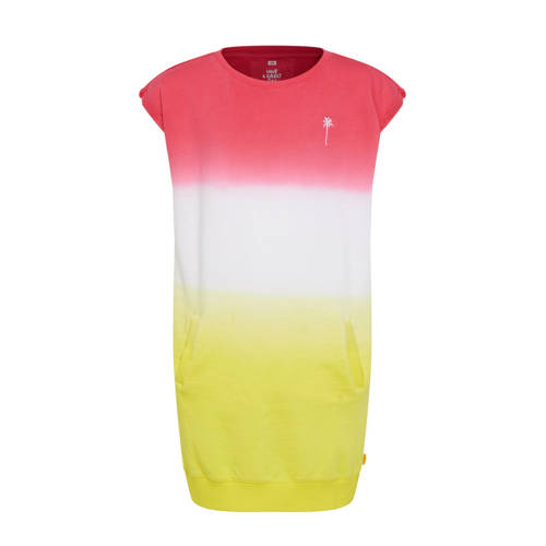 WE Fashion tie-dye sweatjurk roze/wit/geel
