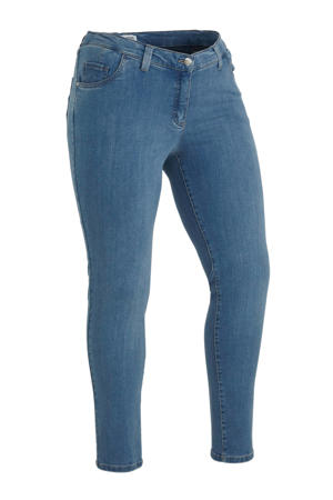 skinny jeans Betty met wol blauw