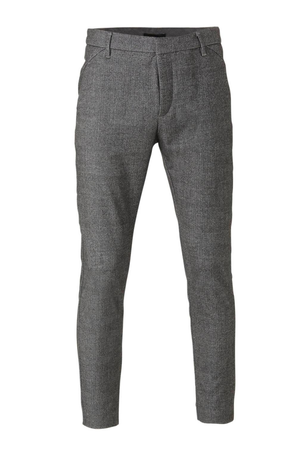 PLAIN slim fit pantalon grijs, Grijs