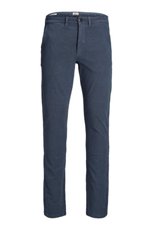 JEANS INTELLIGENCE slim fit chino blauw