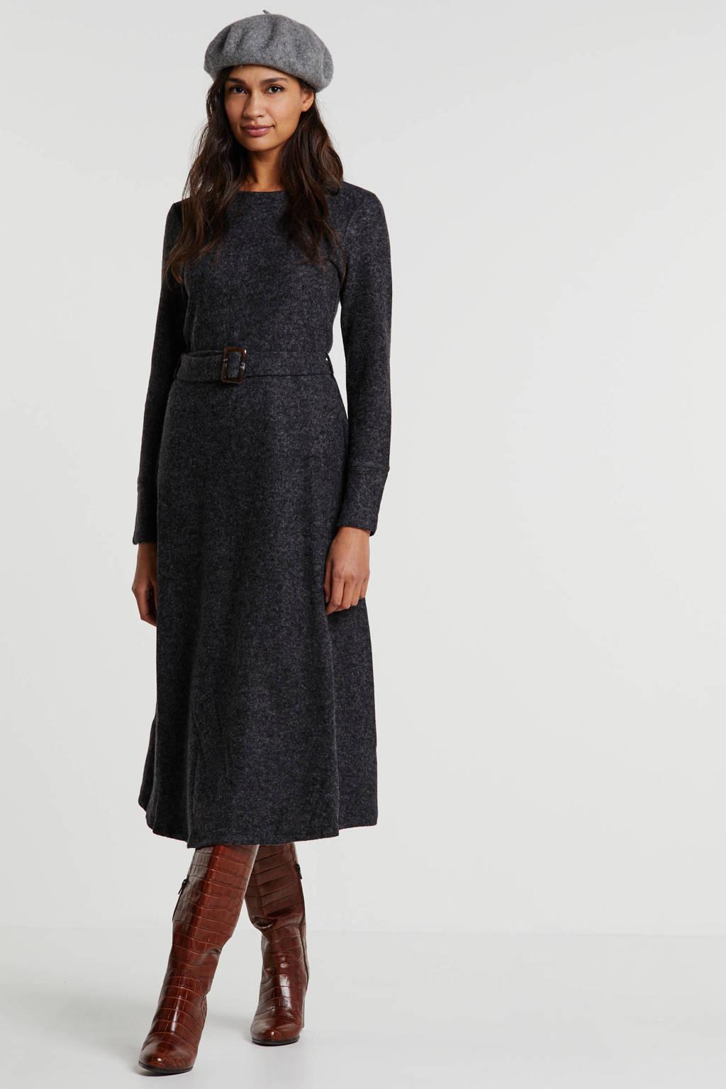 ESPRIT Women Collection gemêleerde A-lijn jurk grijs, Grijs