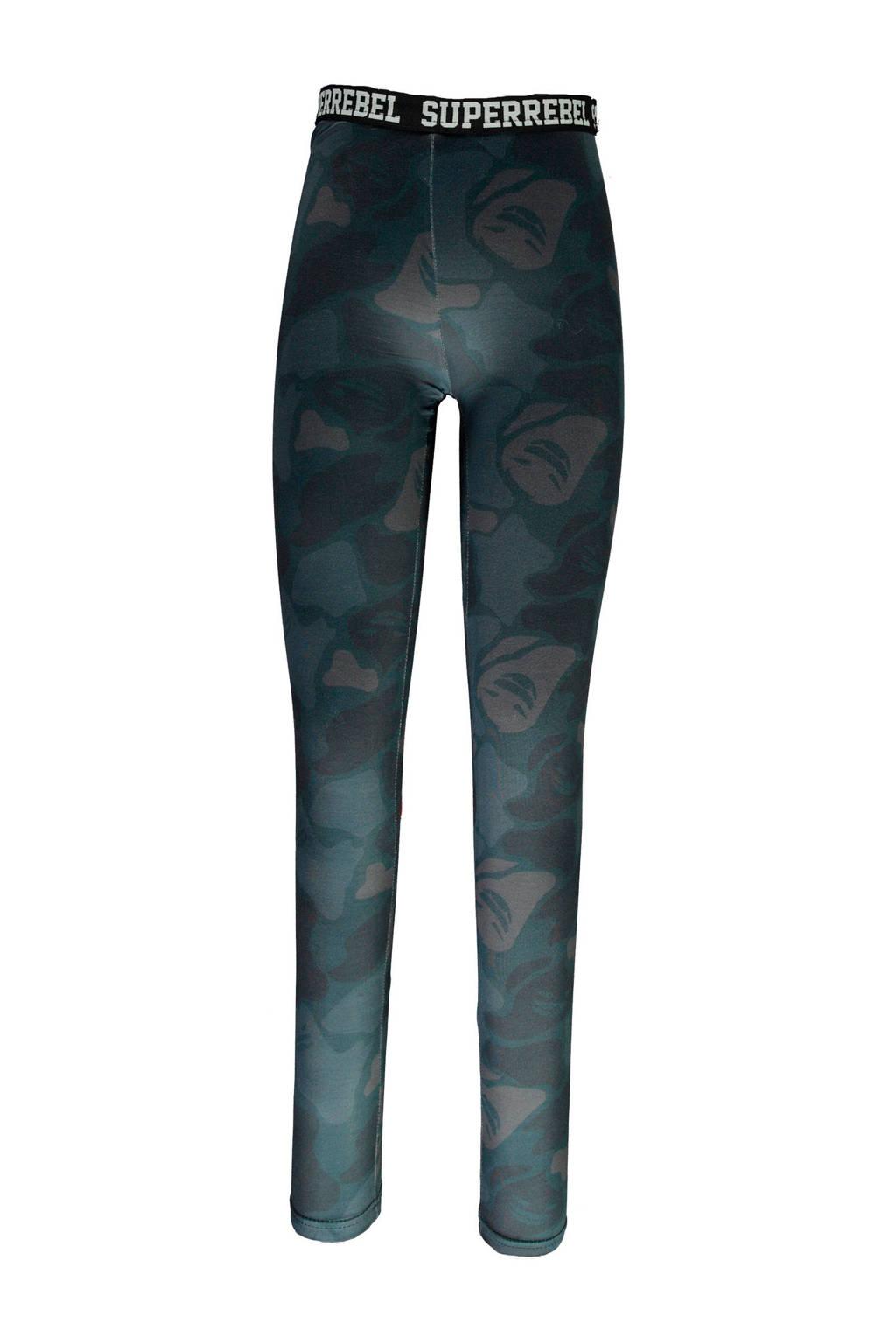 SuperRebel joggingbroek blauw camouflage, Blauw/grijs camoufalge