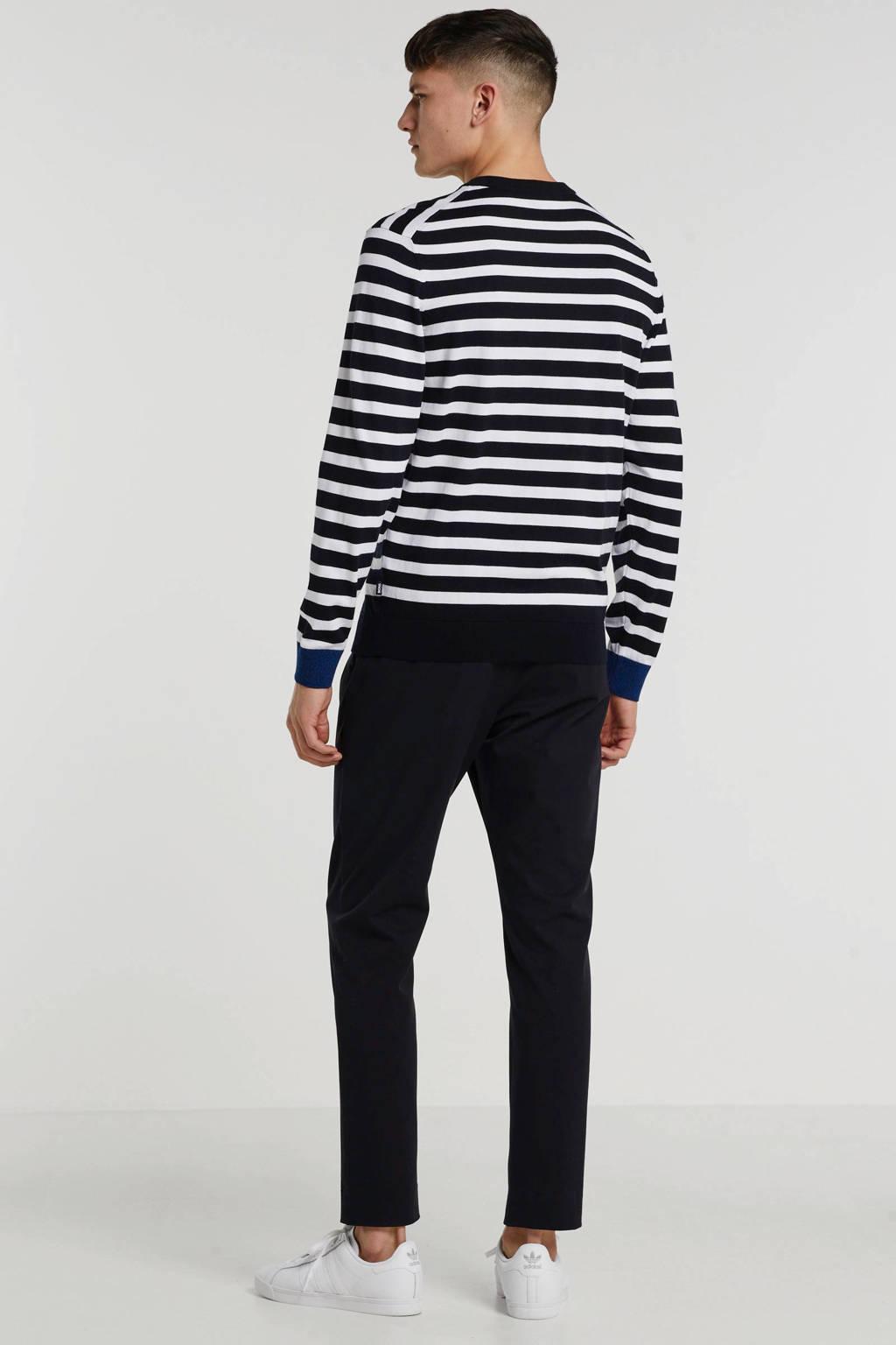 BOSS Menswear gestreepte trui zwart/wit, Zwart/wit