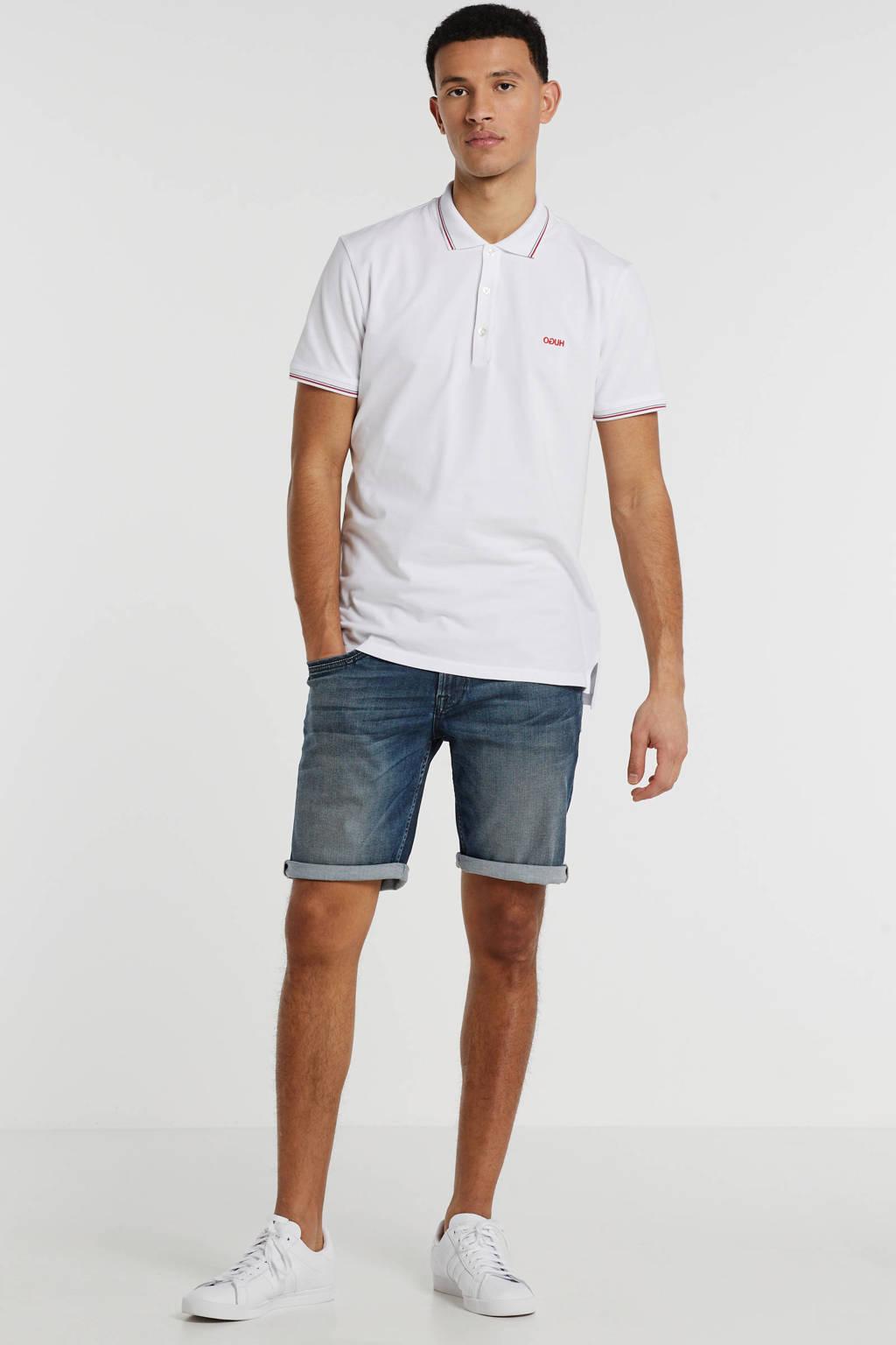 HUGO slim fit polo met logo wit, Wit