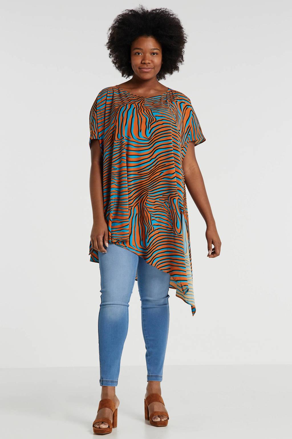 Mat Fashion tuniek met zebraprint multi, Multi