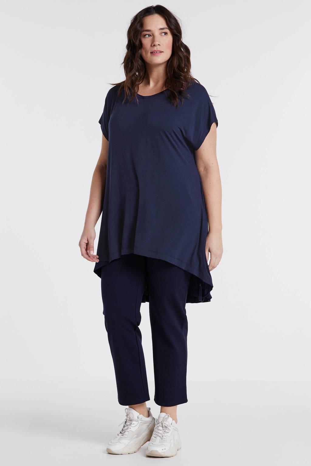 Mat Fashion tuniek donkerblauw, Donkerblauw