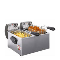 Fritel FR1850 DUO koude zone friteuse, Roestvrijstaal
