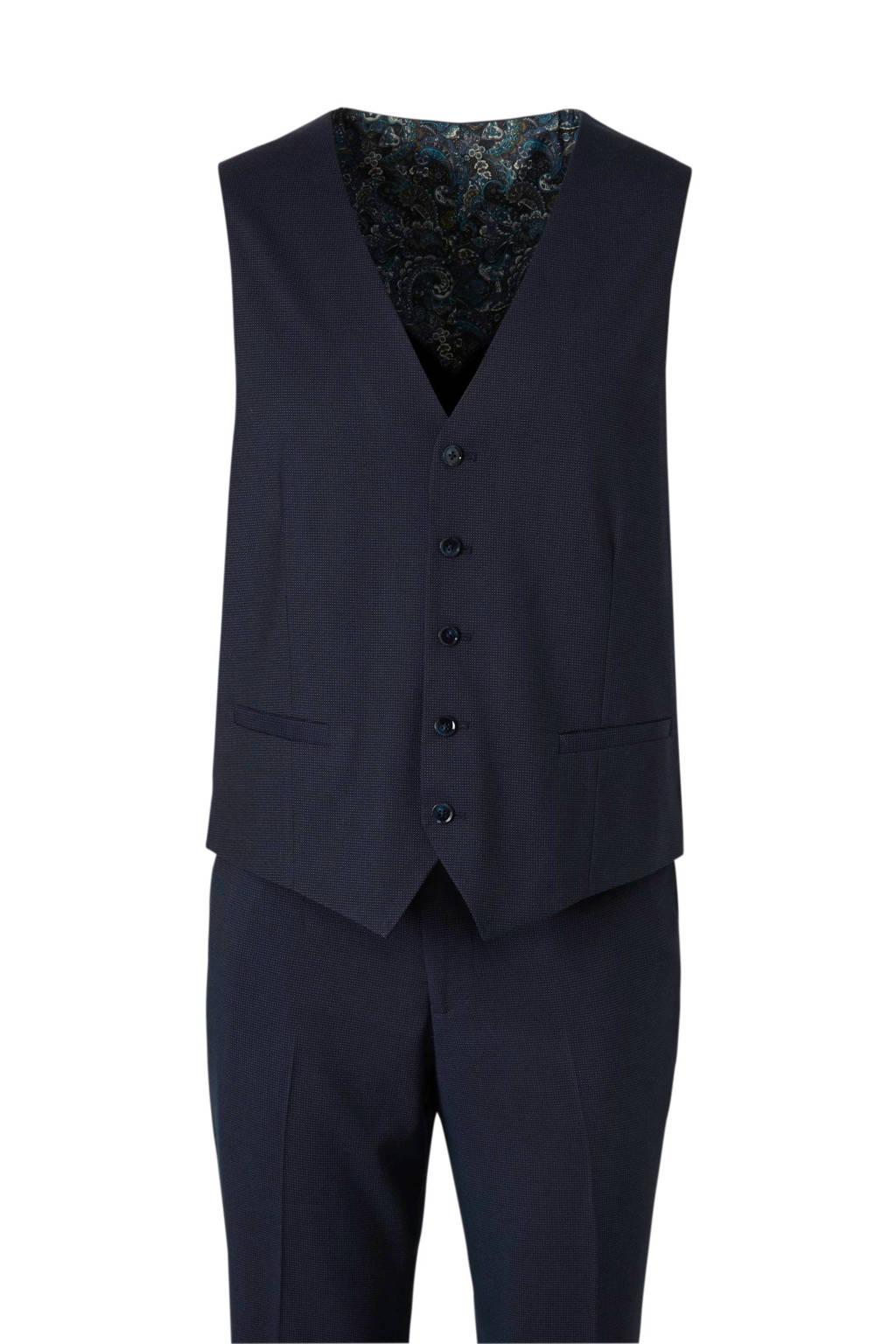 C&A Angelo Litrico slim fit kostuum donkerblauw, Donkerblauw