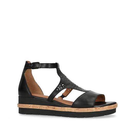 No Stress leren sandalen zwart
