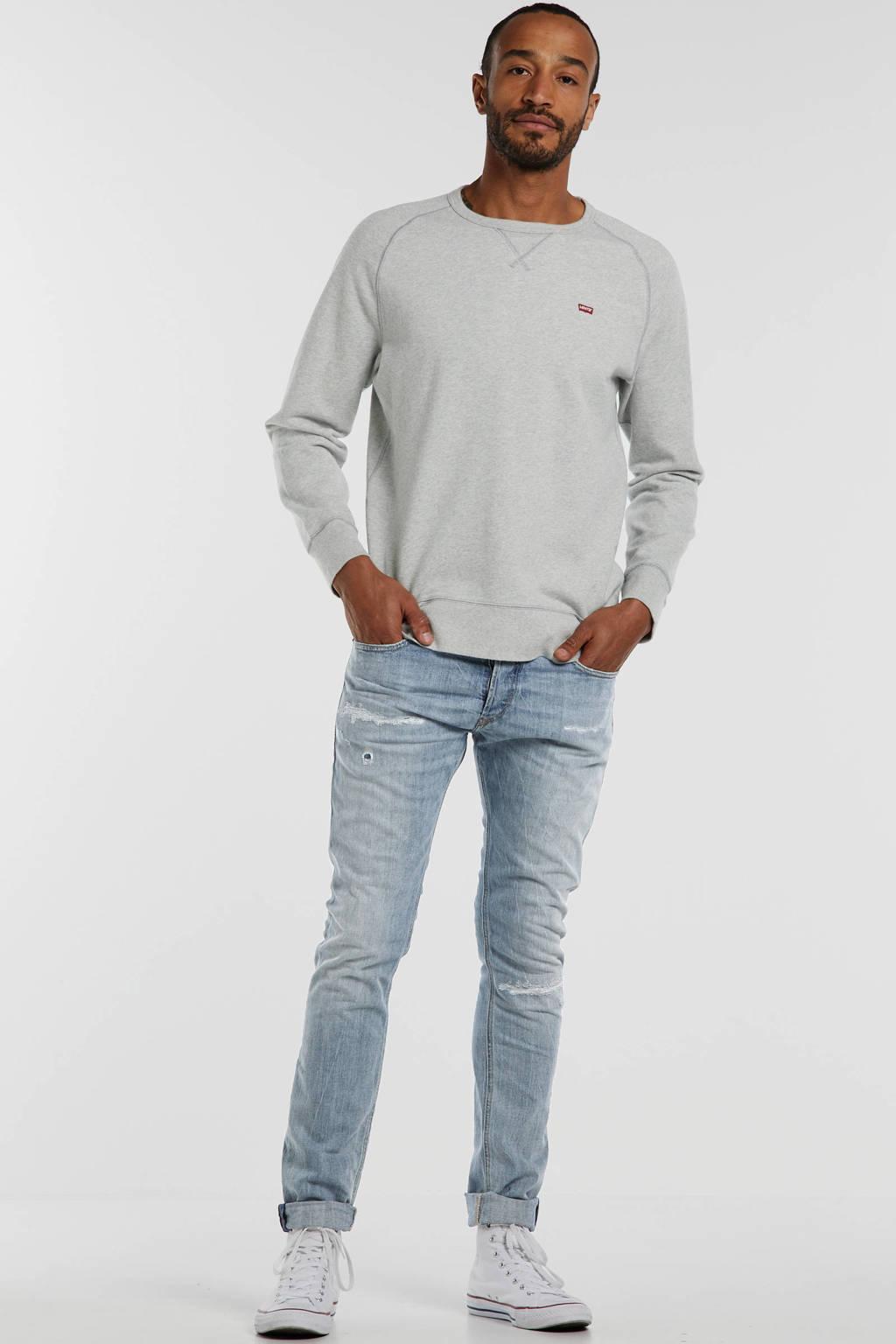 Levi's gemêleerde sweater grijs melange, Grijs melange