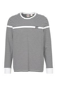 Levi's gestreept T-shirt wit/zwart, Wit/zwart